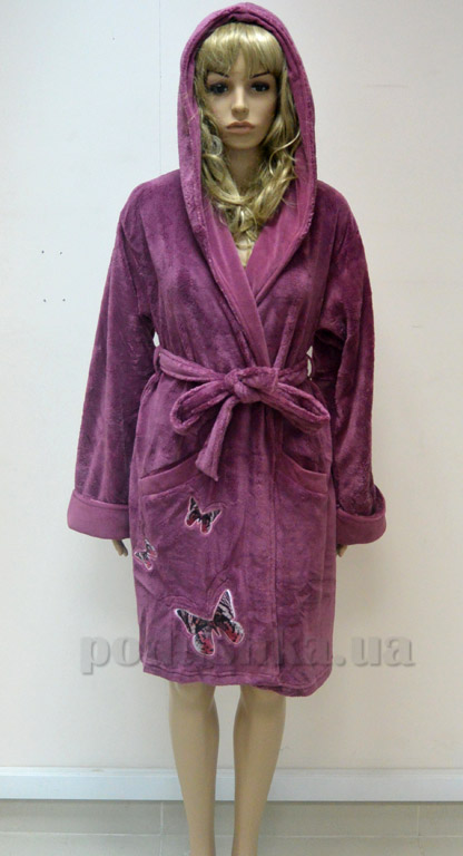 Халат женский короткий с капюшоном Nusa NS-8290
