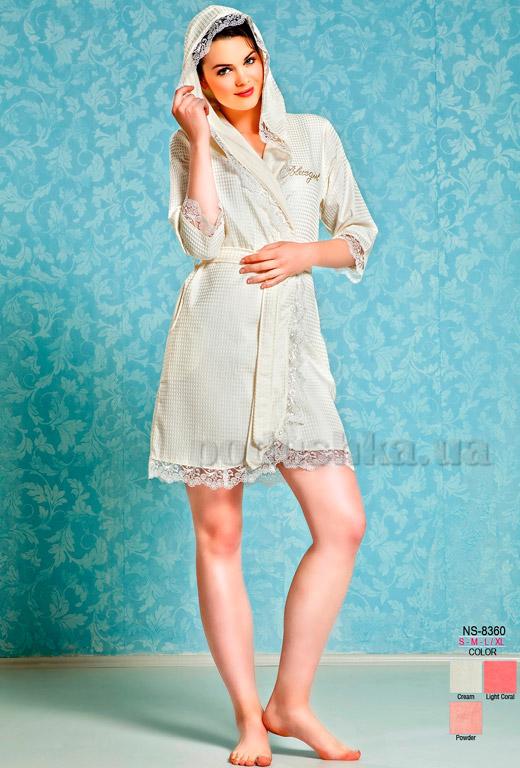 Халат женский короткий с капюшоном Nusa NS-8360