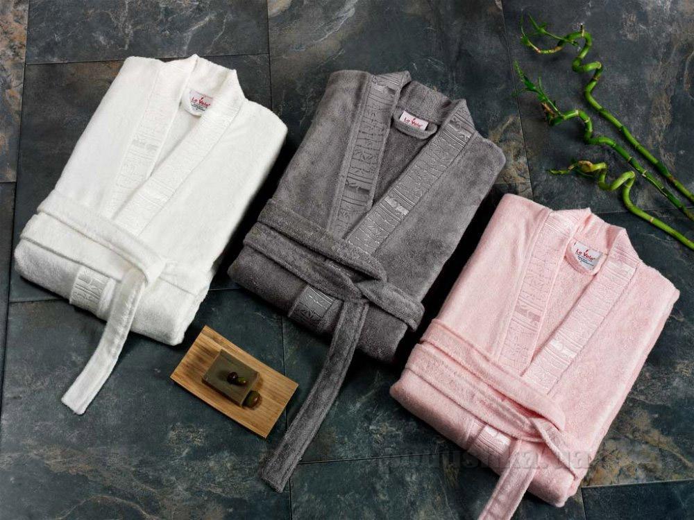 Халат женский Le Vele Bamboo Cotton S розовый Le Vele