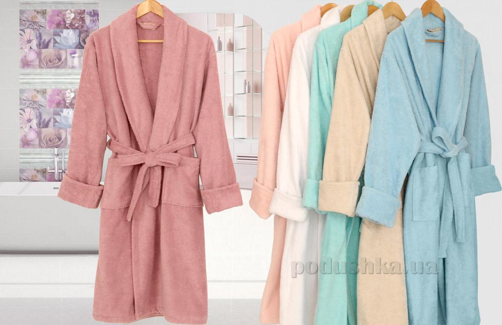 Халат женский махровый Irya Loft L/XL розовый Irya