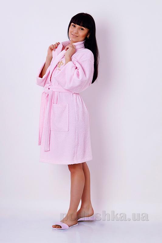 Халат женский махровый Marca Marco Milano розовый