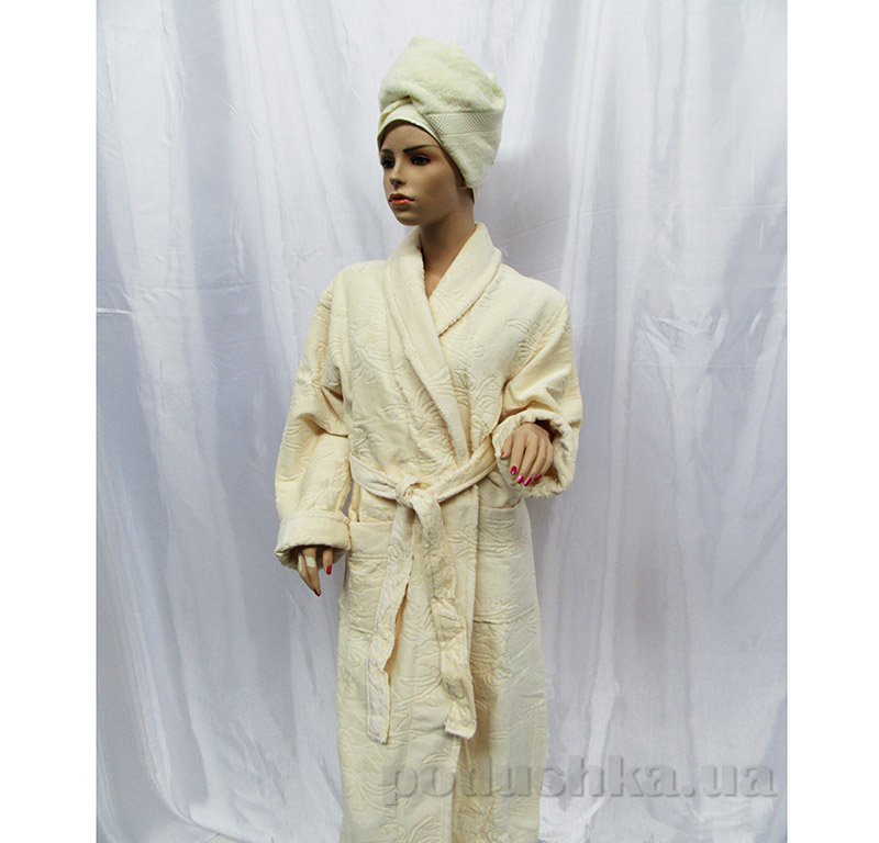 Халат женский Шалька Arya 13415 cветло-кремовый XXXL  ARYA