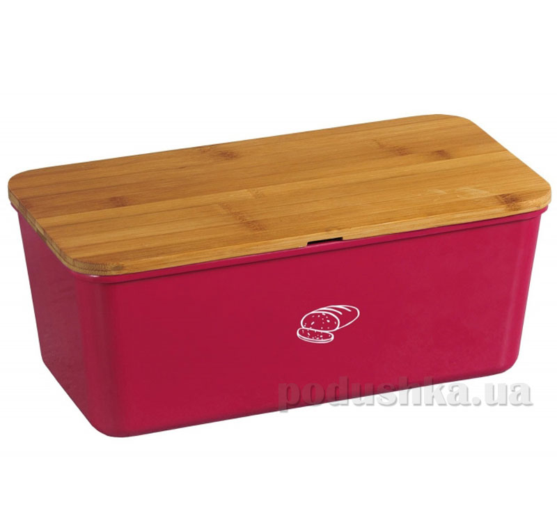 Хлебница с крышкой Kesper G18093 красная