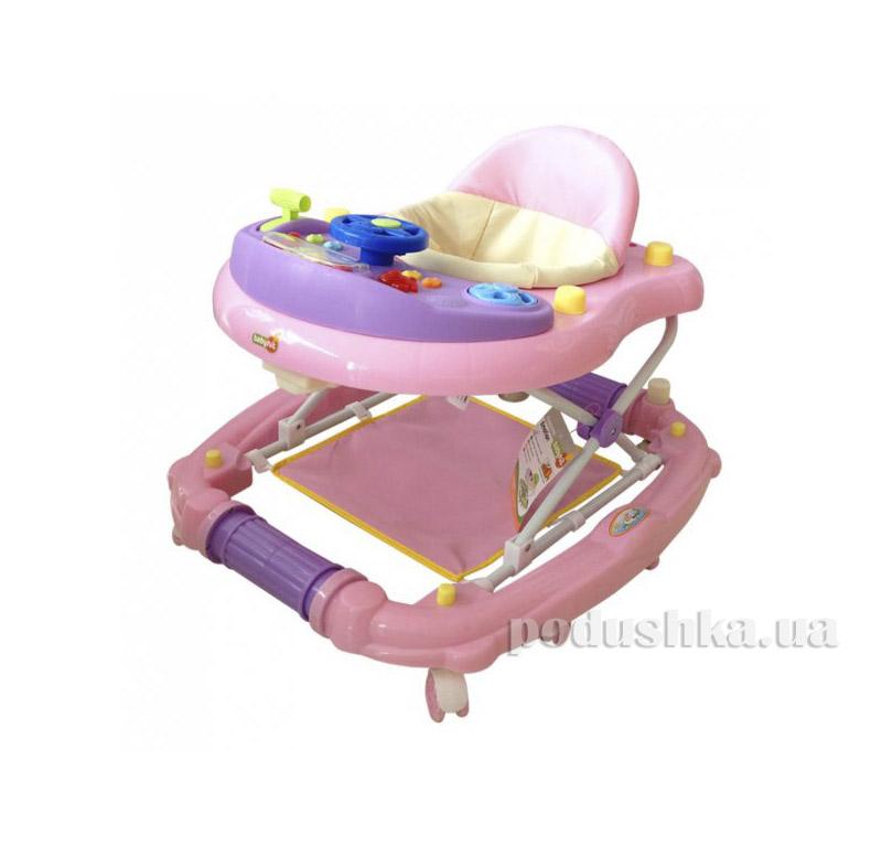 Ходунки BabyHit Emotion Racer Pink