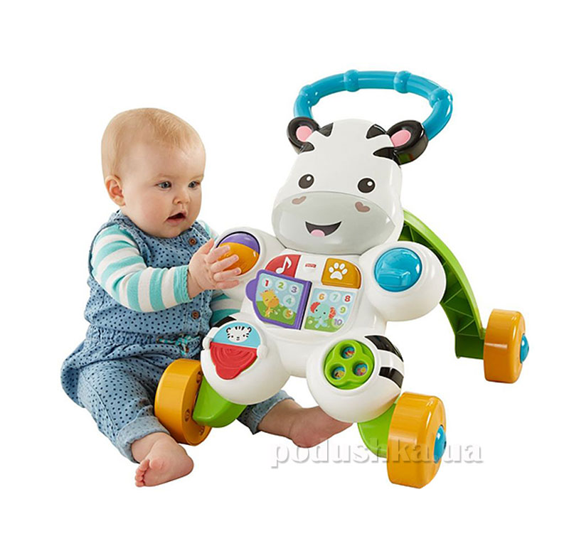 Ходунки Зебра на русском языке Fisher-Price DPL54