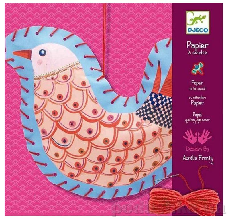 Художественный комплект шнуровка Птички Djeco