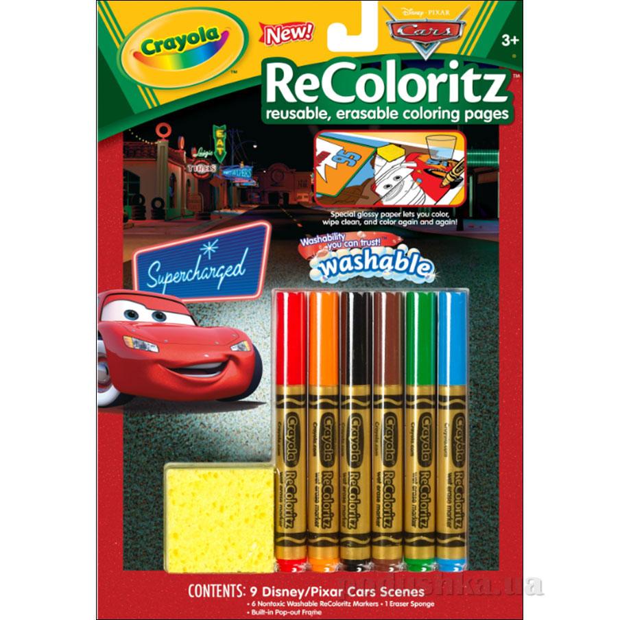Книга-раскраска с фломастерами и волшебным ластиком Машинки Crayola 04-5017
