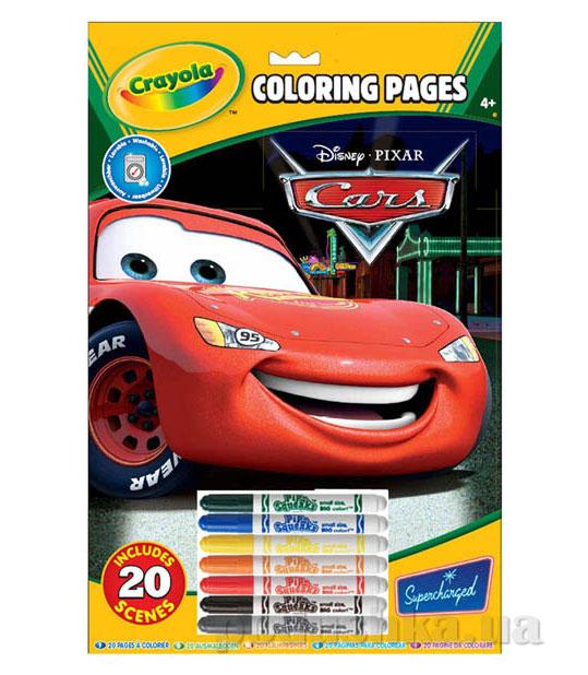 Книга-раскраска с фломастерами Машинки Crayola 55519