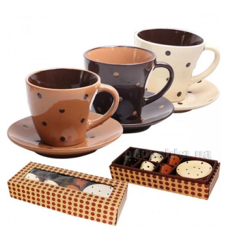 Кофейный сервиз 12 предметов Карамель ST 1533-02