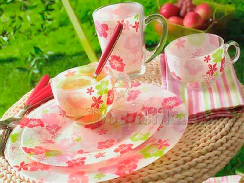 Кофейный сервиз Luminarc Fresh Flower Pink D8089