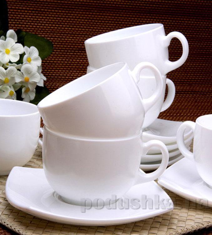 Кофейный сервиз Luminarc Quadrato White C3110