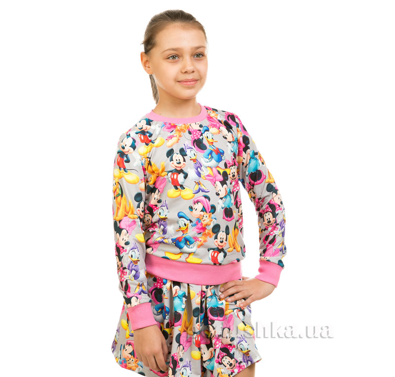 Кофта Мики Маус Kids Couture серый