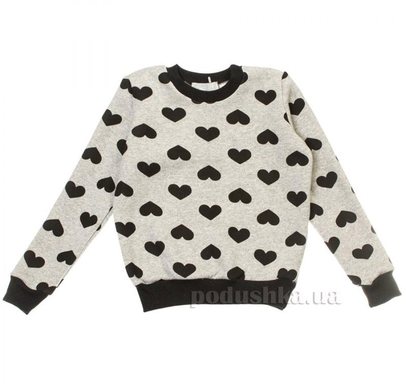 Кофта Сердце Kids Couture 16-15 серая