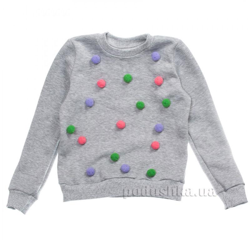 Кофта Цветные снежки Kids Couture 16-15 серая
