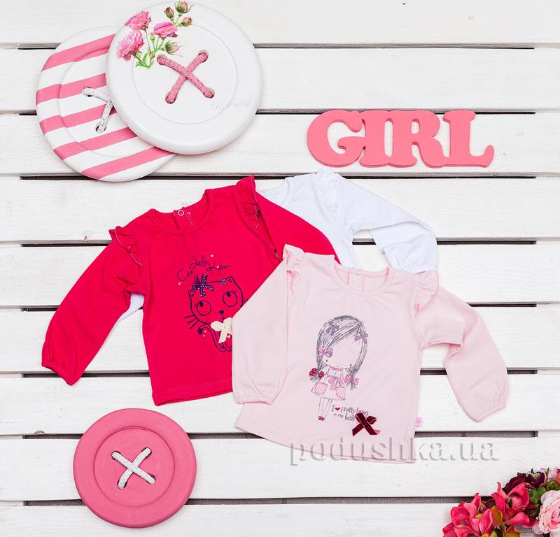 Кофточка для девочек Фламинго 648-416 стрейч-кулир