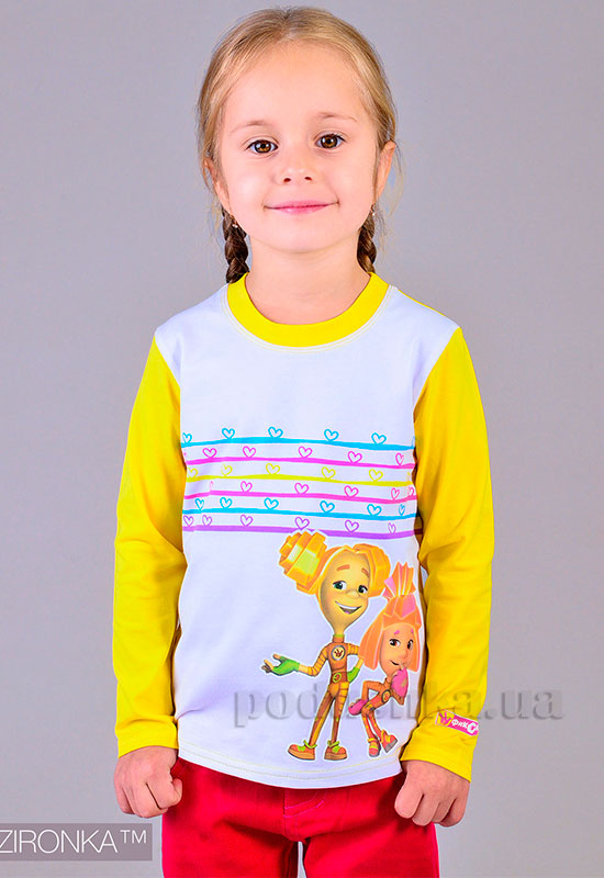 Кофточка для девочки Fixi Sport Zironka бело-желтая