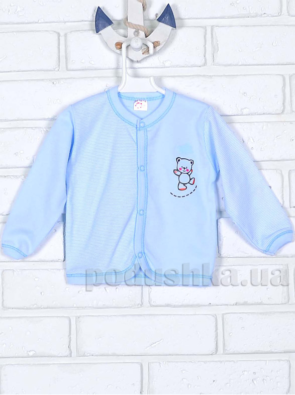 Кофточка для мальчика Татошка 04502 голубая Мишка