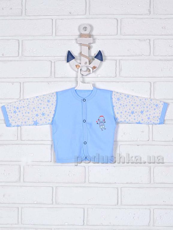 Кофточка для мальчика Татошка 04502 голубая Звездочки