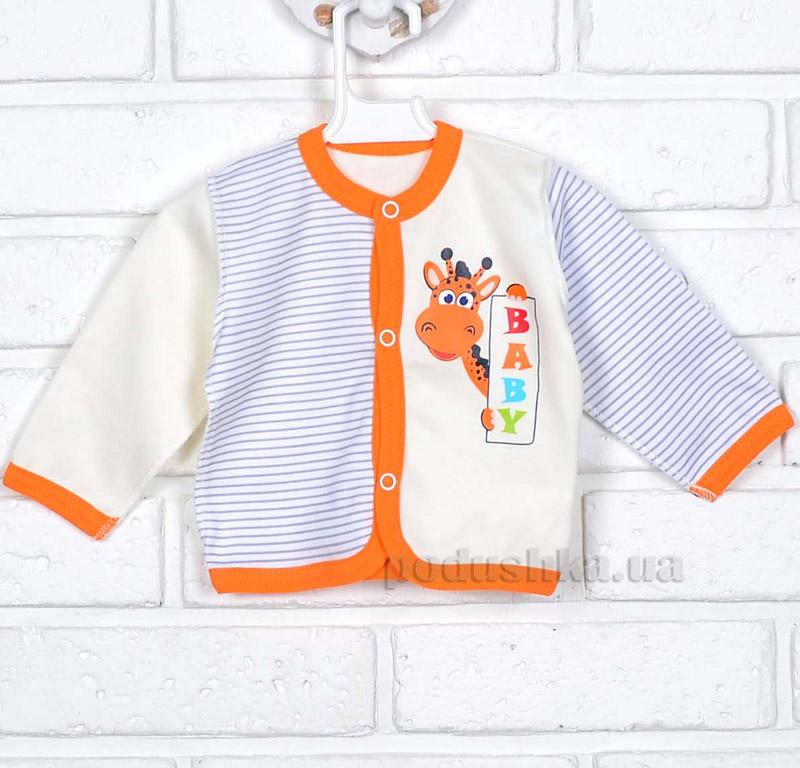 Кофточка Татошка 04502 молочная с оранжевым
