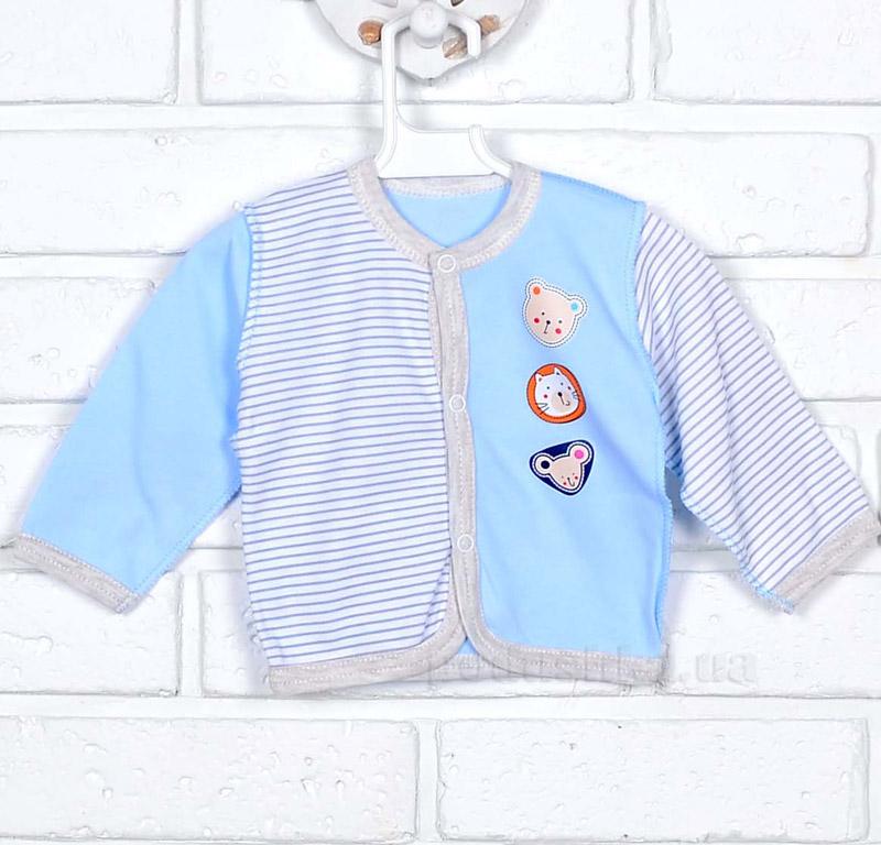 Кофточка для мальчика Татошка 04502 серая с голубым