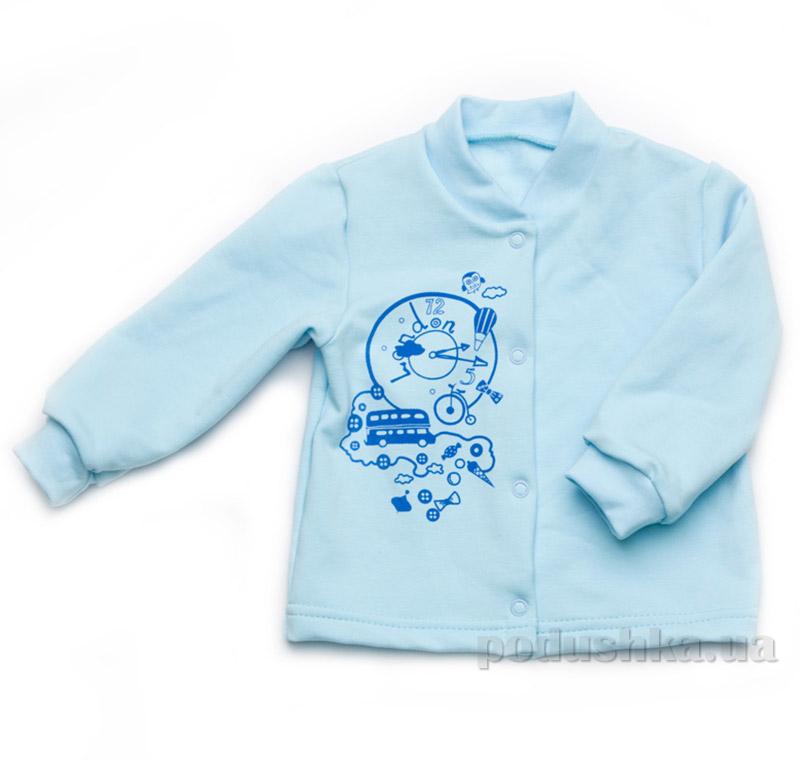 Кофточка для мальчиков утепленная Модный карапуз 302-00006 голубая