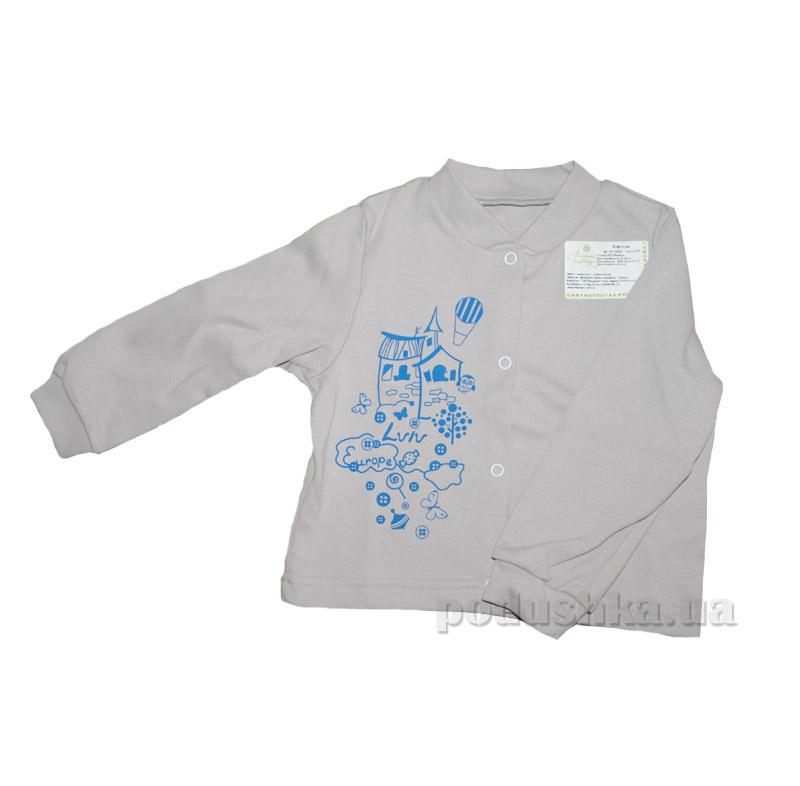Кофточка для новорожденных из плотного интерлока Модный карапуз 301-00006 серая