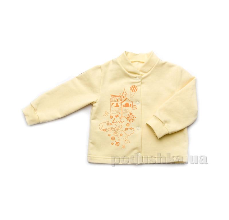 Кофточка для новорожденных из плотного интерлока Модный карапуз 301-00006 желтая