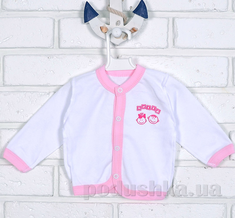 Кофточка Mukka м04602 бело-розовая