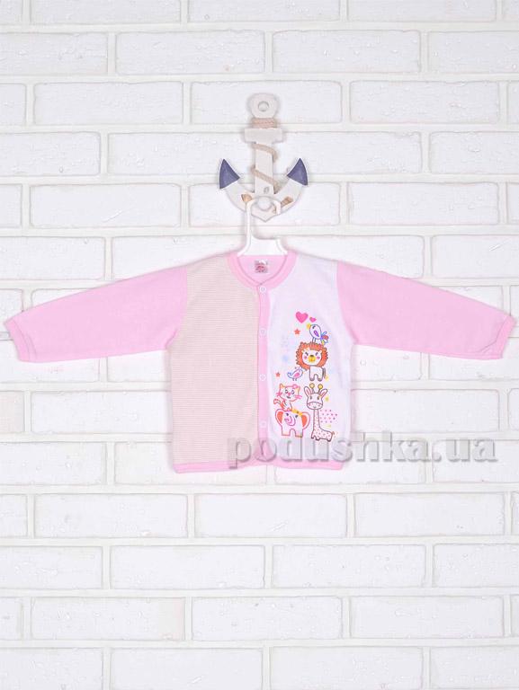 Кофточка Татошка 04502 розовая с аппликацией
