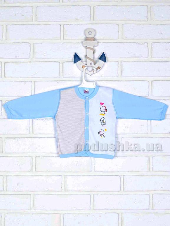 Кофточка Татошка 04502 голубая с рисунком