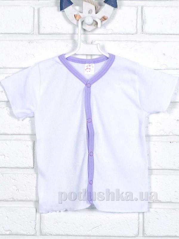 Кофточка Татошка 04601 интерлок белая сиреневый кант