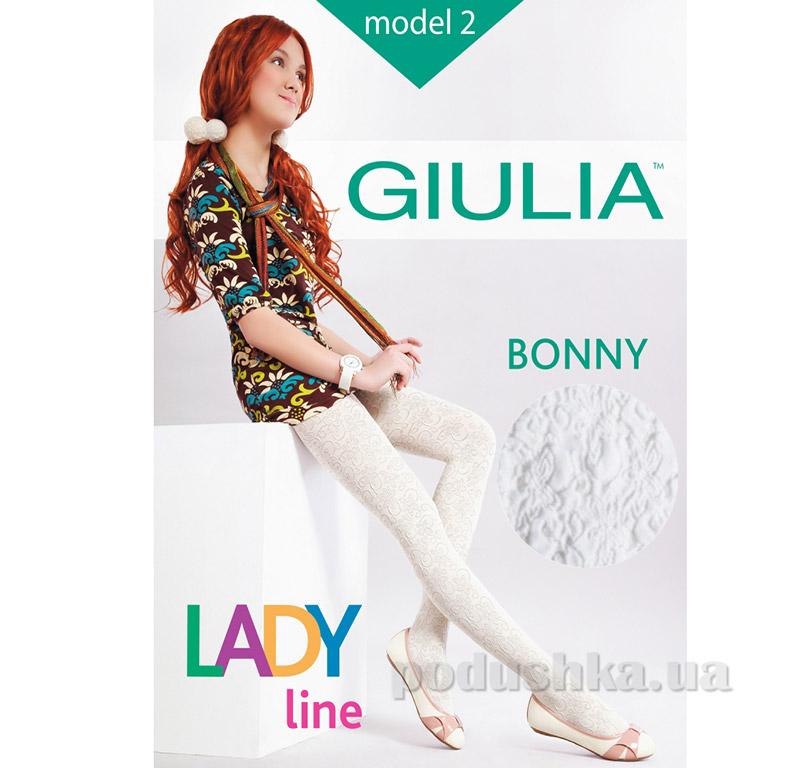 Колготки белые для девочки с кружевным эффектом 60 den Bonny Giulia Bianco