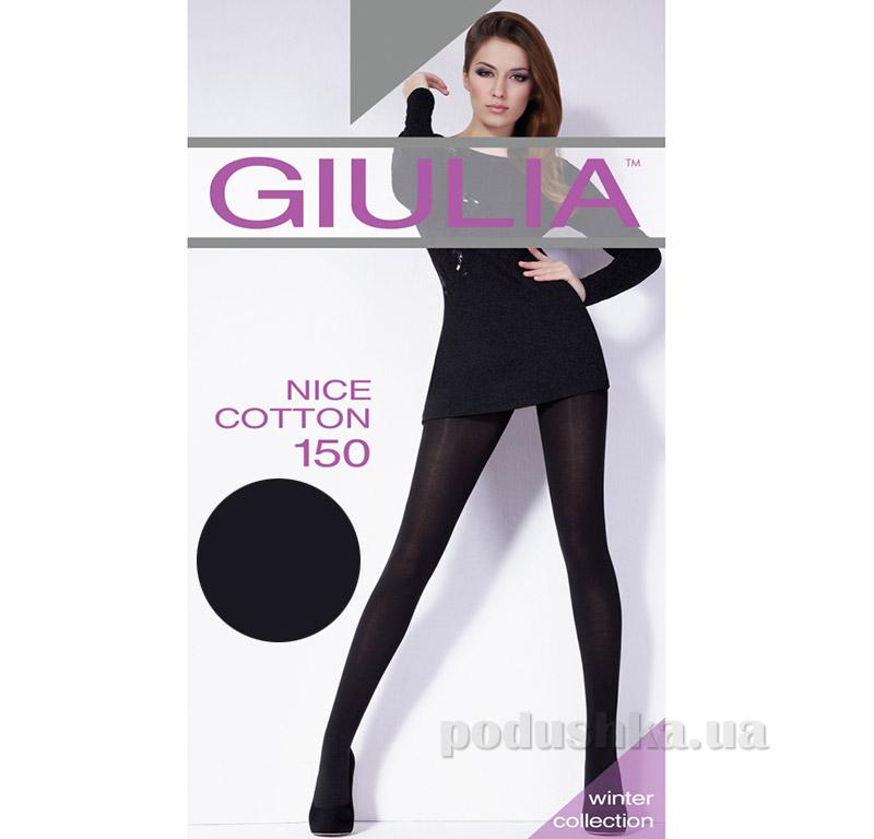 Колготки черные 150 Den Giulia Nice Cotone Nero
