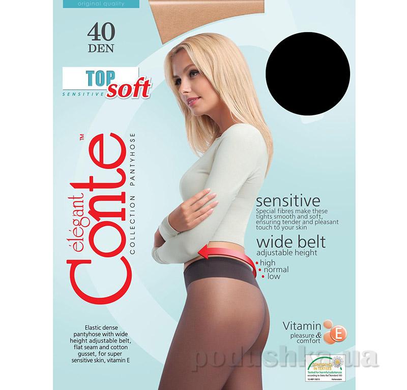 Колготки черные 40 den Top soft Conte 14С-37СП Nero