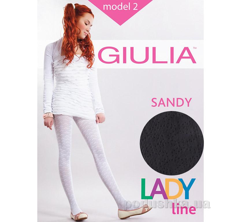 Колготки черные ажурные с рисунком 50 den Sandy Giulia Nero
