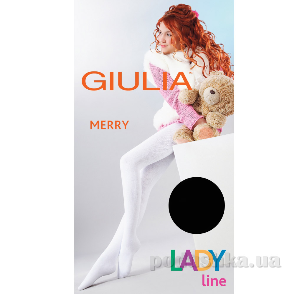 Колготки черные зимние для девочки 250 den Merry Giulia Nero