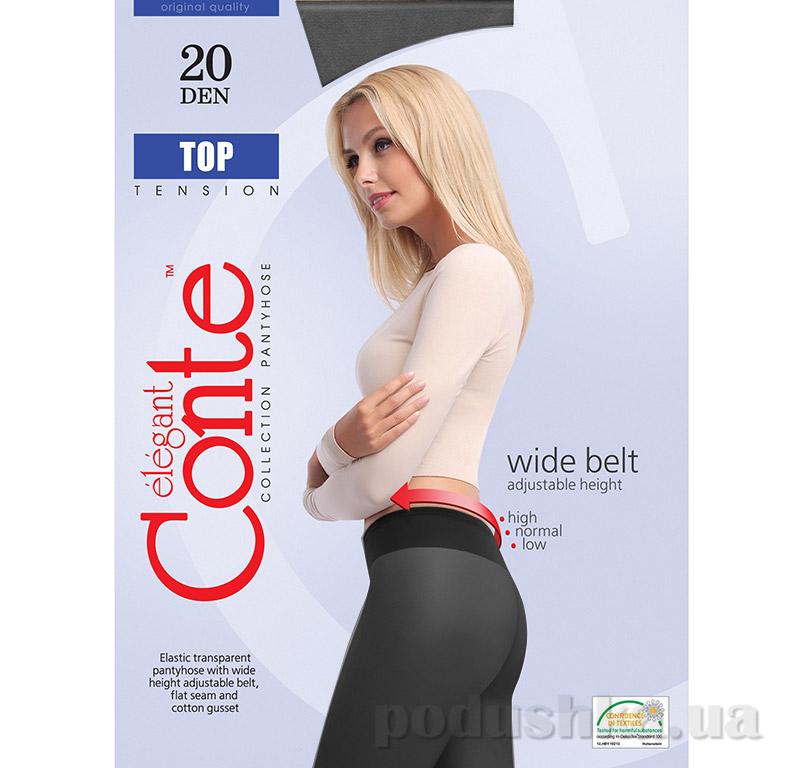 Колготки черные для женщин низкая талия Top 20 Den Conte 8С-29СП Nero