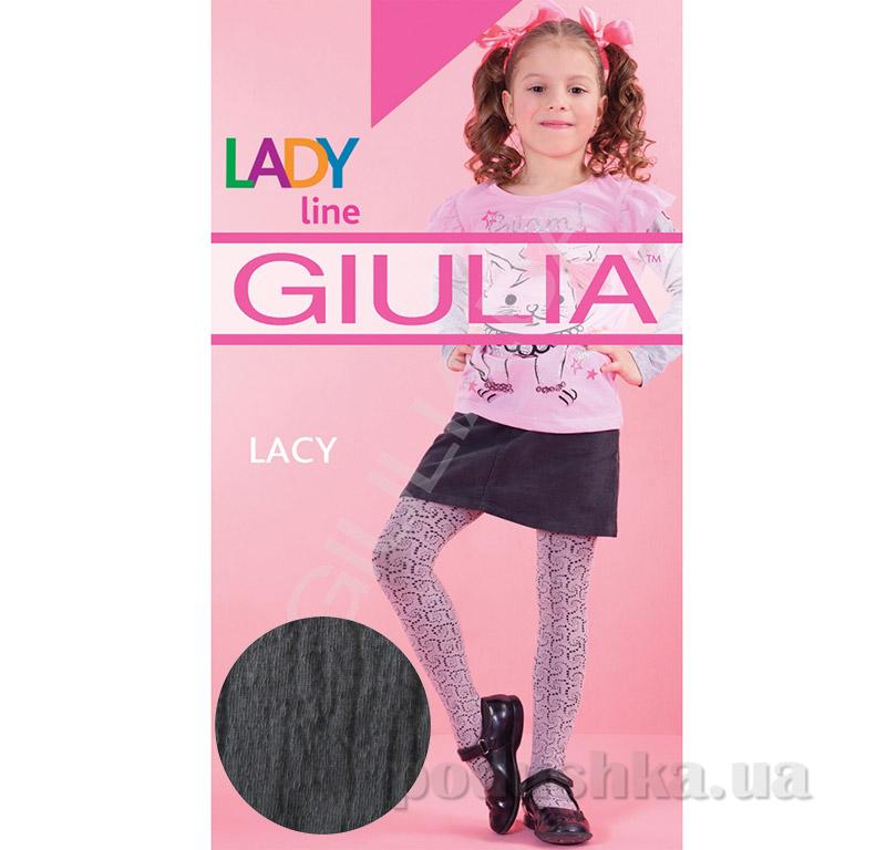 Колготки черные хлопковые c рисунком 120 den Lacy Giulia Nero