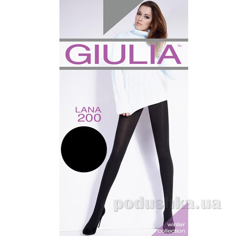 Колготки черные с шерстью 200 Den Lana Giulia Nero