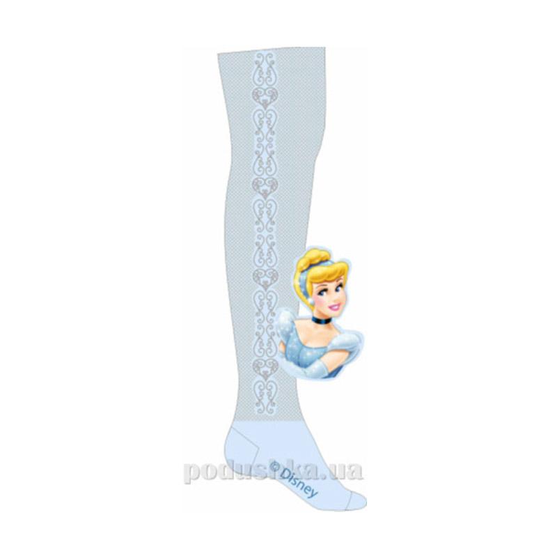 Колготки детские Кребо ажурные принцесса голубые