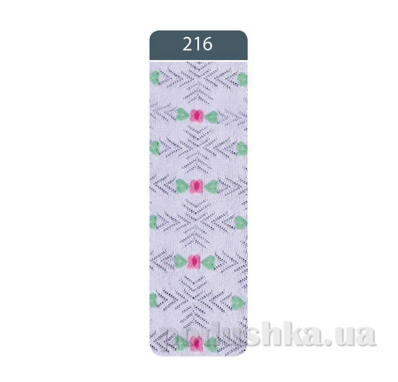 Колготки детские жаккардовые Bravo Conte 7C-44CП 216 бледно-фиолетовые