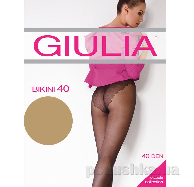Колготки серо-бежевые 40 Den Bikini Giulia Visone