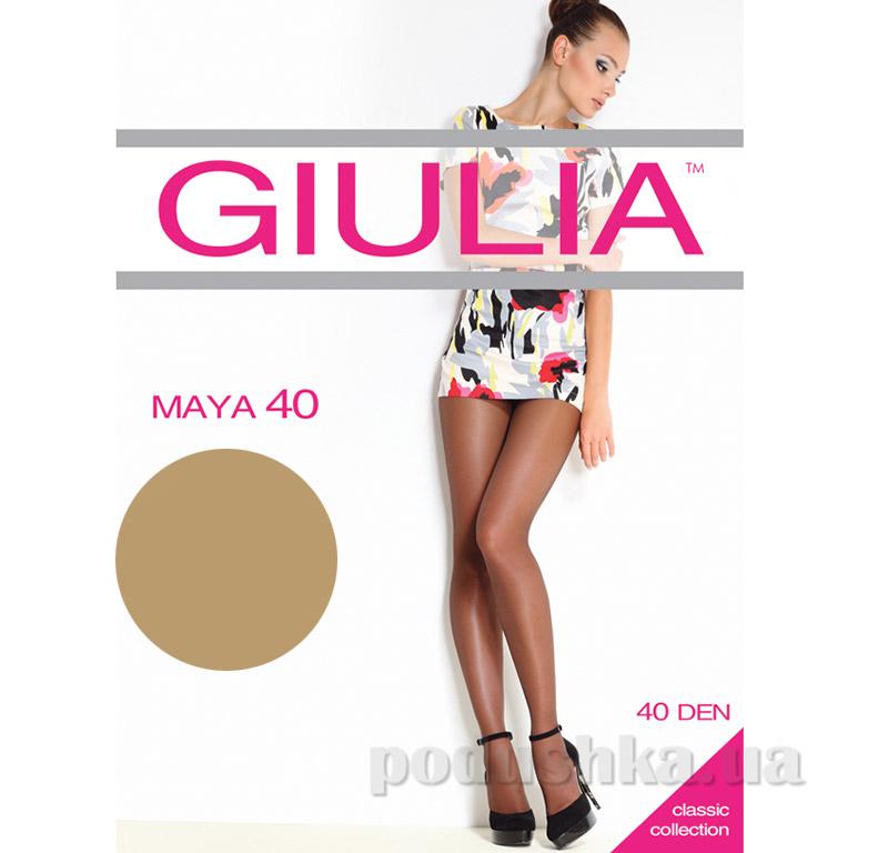Колготки серо-бежевые 40 Den Maya Giulia Visone