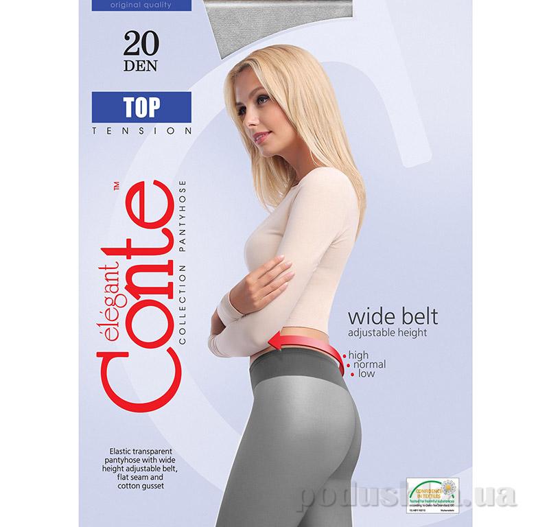Колготки серые для женщин низкая талия Top 20 Den Conte 8С-29СП Grafit