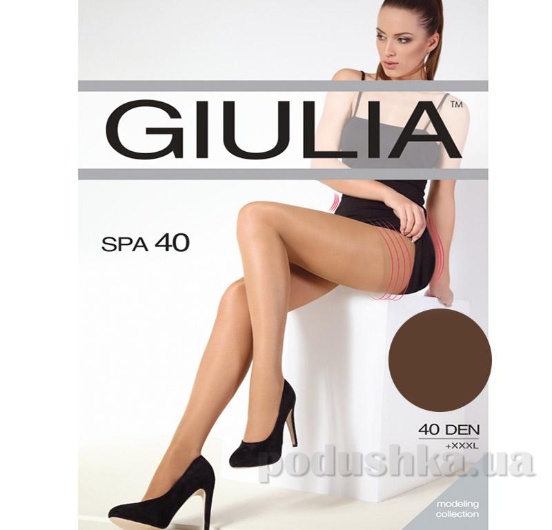 Колготки темно-коричневые 40 Den кoрректирующие Spa Giulia Сappuccino