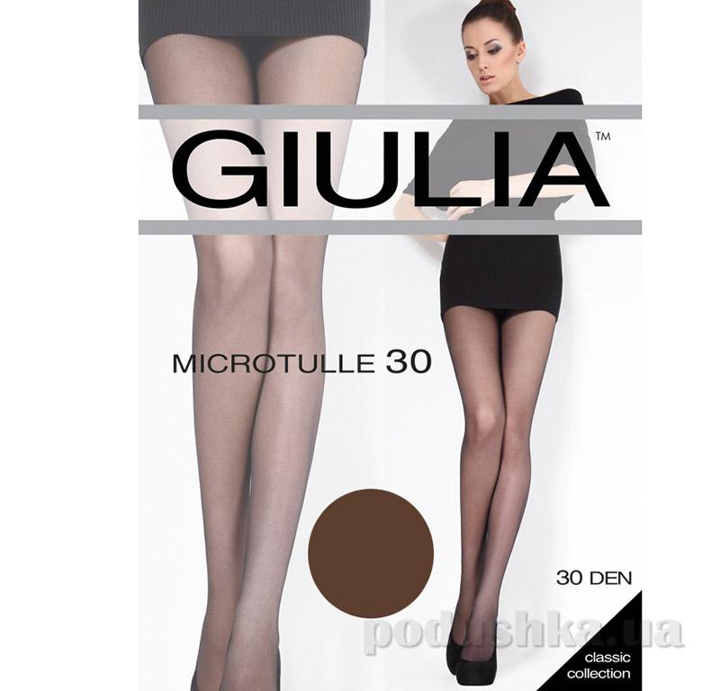 Колготки темно-коричневые с эффектом тюля 30 Den Microtulle Giulia Сappuccino