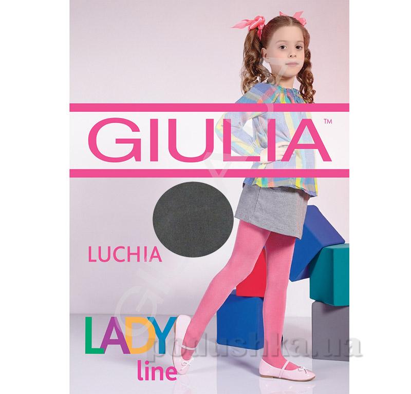 Колготки темно-серые однотонные теплые 150 den Luchia Giulia Fumo