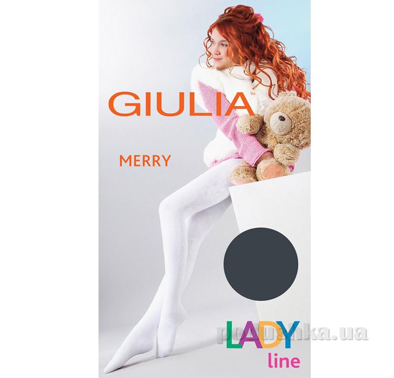 Колготки темно-серые зимние для девочки 250 den Merry Giulia Iron