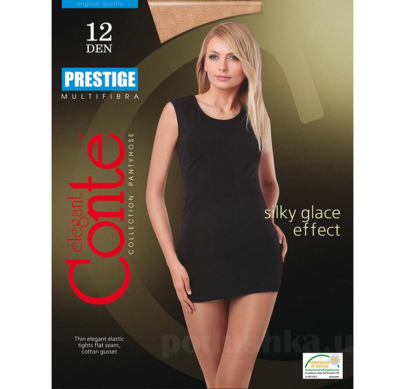 Колготки бежевые женские Prestige 12 Den Conte 8С-59СП Natural