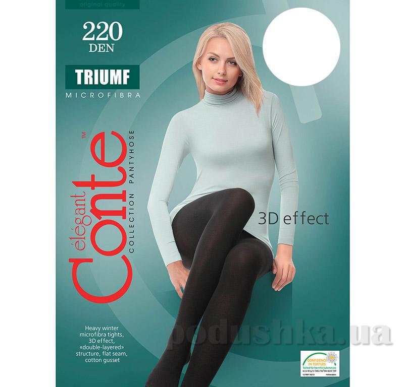 Колготы белые плотные для женщин Triumf 220 Den Conte 8С-58СП Bianco